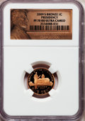 Proof Lincoln Cents, 2009-S 1C Bronze Presidency PR70 Red Ultra Cameo NGC. NGC Census:(2108). PCGS Population (289). Numismedia Wsl. Price for...