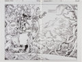 Original Comic Art:Splash Pages, Gil Kane and George Perez Jurassic Park #1 Splash Page 28and 29 Original Art (Topps Comics, 1993).... (Total: 2 Items)