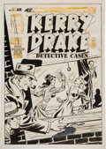 Original Comic Art:Covers, Al Avison Kerry Drake Detective Cases #12 Cover Original Art (Harvey, 1949)....