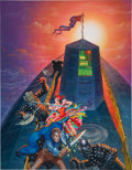 Original Comic Art:Covers, Kelly Freas The Maelstrom's Eye Book Cover Original Art(Wizards of the Coast, 1992)....