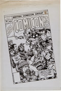 Original Comic Art:Illustrations, Steve Lowther British Comicon '78 Illustration Original Art(1978)....