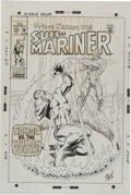 Original Comic Art:Covers, Marie Severin and Frank Giacoia Sub-Mariner #14 Sub-Marinervs. the Original Human Torch Cover Original Art (Marve...