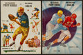 Football Collectibles:Programs, 1960-61 San Francisco 49ers Programs Lot of 2 (1960 is signed)....