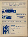 Basketball Collectibles:Programs, 1967 San Francisco Warriors vs. St. Louis Hawks PlayoffsProgram....
