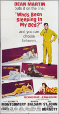 "Movie Posters:Comedy, Who's Been Sleeping in My Bed? (Paramount, 1963). Three Sheet (41"" X 81""). Comedy.. ..."