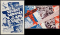 "Movie Posters:Action, Secret Service of the Air & Others Lot (Warner Brothers, 1938).Heralds (4) (5"" X 9"", 6"" X 9"", & 6.75"" X 11.75""). Action.. ...(Total: 4 Items)"