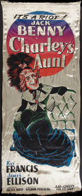 "Movie Posters:Comedy, Charley's Aunt (20th Century Fox, 1941). Silk Banner (39"" X 98""). Comedy.. ..."
