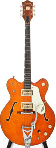 Musical Instruments:Electric Guitars, 1968 Gretsch Chet Atkins Nashville Orange Semi-Hollow ElectricGuitar, Serial # 1818....