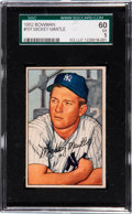 Baseball Cards:Singles (1950-1959), 1952 Bowman Mickey Mantle #101 SGC 60 EX 5....