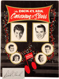 Music Memorabilia:Autographs and Signed Items, Dick Clark Caravan of Stars 1961 Autographed Tour Book....