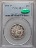 Barber Quarters: , 1905-O 25C XF45 PCGS. CAC. PCGS Population (11/84). NGC Census:(2/52). Mintage: 1,230,000. Numismedia Wsl. Price for probl...