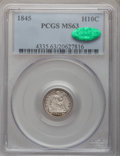 Seated Half Dimes: , 1845 H10C MS63 PCGS. CAC. PCGS Population (28/79). NGC Census:(37/77). Mintage: 1,564,000. Numismedia Wsl. Price for probl...
