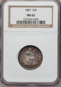 Seated Quarters, 1887 25C MS62 NGC....