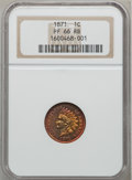 Proof Indian Cents, 1871 1C PR66 Red and Brown NGC....
