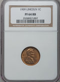 Proof Lincoln Cents, 1909 1C PR64 Red and Brown NGC....