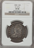 Bust Half Dollars: , 1808 50C XF40 NGC. 0-107a. NGC Census: (37/298). PCGS Population(70/310). Mintage: 1,368,600. Numismedia Wsl. Price for p...