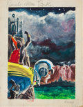 Original Comic Art:Miscellaneous, Emsh (Edward Emshwiller) Planets Mean Trouble Sci-Fi CoverPreliminary Original Art (undated)....
