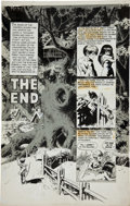"Original Comic Art:Panel Pages, Wally Wood Woodwork Gazette #2 ""The End"" Title Page 1Original Art (Wood, 1978)...."
