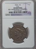 Large Cents: , 1816 1C -- Rev Improperly Cleaned -- NGC Details. AU. N-6. NGCCensus: (4/175). PCGS Population (10/174). Mintage: 2,820,9...