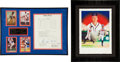 Baseball Collectibles:Others, Baseball Stars Signed Framed Memorabilia Lot of 2....