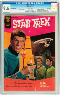 Star Trek #1 Back Cover Variant - Twin Cities pedigree (Gold Key, 1967) CGC NM+ 9.6 White pages