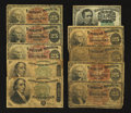 Fractional Currency:Fifth Issue, Fr. 1264 10¢ Fifth Issue Fine-Very Fine;. Seven 25¢ Fourth Issue Notes About Good-Very Good;. Two Fr. 1379 50¢ Dexter Fourth I... (Total: 10 notes)
