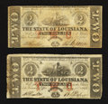 Obsoletes By State:Louisiana, Baton Rouge, LA- State of Louisiana $2 Feb. 24, 1862 Two Examples. ... (Total: 2 notes)