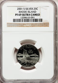 Proof Statehood Quarters: , 2001-S 25C Rhode Island Silver PR69 Ultra Cameo NGC. NGC Census:(0/0). PCGS Population (0/0). (#13022)...