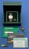 Timepieces:Wristwatch, Rolex Gent's Two Tone Oyster Perpetual Datejust, circa 1987. ...
