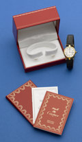 Timepieces:Wristwatch, Cartier Vermeil Lady's Wristwatch. ...