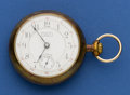 Timepieces:Pocket (post 1900), Waltham Model 1883 Santa Fe Route 17 Jewel 18 Size Pocket Watch....