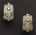 Estate Jewelry:Earrings, Outstanding Diamond & Gold Earrings. ...