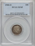 Barber Dimes: , 1900-O 10C XF45 PCGS. PCGS Population (12/68). NGC Census: (3/55).Mintage: 2,010,000. Numismedia Wsl. Price for problem fr...
