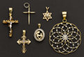 Estate Jewelry:Pendants and Lockets, Six Gold Lockets. ... (Total: 6 Items)