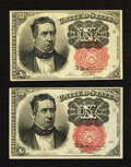 Fractional Currency:Fifth Issue, Fr. 1265 and Fr. 1266 10¢ Fifth Issue New.. ... (Total: 2 notes)