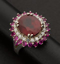 Estate Jewelry:Rings, Ruby Gemstone Ring. ...