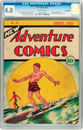Golden Age (1938-1955):Adventure, New Adventure Comics #18 Billy Wright pedigree (DC, 1937) CGC VG 4.0 Off-white pages....