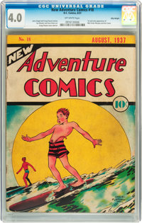 New Adventure Comics #18 Billy Wright pedigree (DC, 1937) CGC VG 4.0 Off-white pages