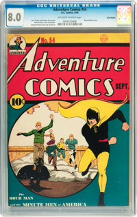 Adventure Comics #54 Billy Wright pedigree (DC, 1940) CGC VF 8.0 Off-white to white pages