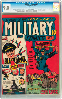 Military Comics #2 Billy Wright pedigree (Quality, 1941) CGC VF/NM 9.0 Off-white to white pages