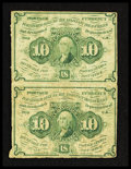 Fractional Currency:First Issue, Fr. 1242 10¢ First Issue Vertical Pair Very Fine.. ... (Total: 2 notes)