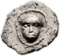 Ancients:Judaea, Ancients: Yehud (333-302 BC). AR quarter ma'ah obol (8mm, 0.23 gm,12h)....
