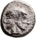Ancients:Judaea, Ancients: Gaza (Ca. 445-410 BC). AR quarter-shekel (15mm, 3.88 gm,12h). ...