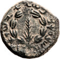 Ancients:Judaea, Ancients: Bar Kokhba Revolt (132 - 135 AD). AE middle bronze (23mm,10.34 gm, 12h)....