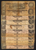 Confederate Notes:1864 Issues, T68 $10 1864. Ten Examples.. ... (Total: 10 notes)