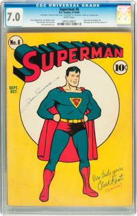 Superman #6 (DC, 1940) CGC FN/VF 7.0 White pages