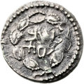 Ancients:Judaea, Ancients: Bar Kokhba Revolt (132 - 135 AD). AR zuz (18mm, 3.44 gm,12h). ...