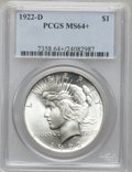 Peace Dollars: , 1922-D $1 MS64+ PCGS. PCGS Population (3036/1191). NGC Census:(2658/1133). Mintage: 15,063,000. Numismedia Wsl. Price for ...