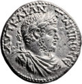 Ancients:Judaea, Ancients: Aelia Capitolina, Judaea. Caracalla (198 - 217 AD). ARbillon tetradrachm (28mm, 11.93 gm, 5h). ...