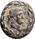 Ancients:Judaea, Ancients: Akko-Ptolemais, Phoenicia. Mark Antony and Cleopatra VII.AE (24 X 26mm, 11.82 gm, 12h). ...